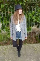 Stradivarius coat - Zara Kids boots - Bershka shirt