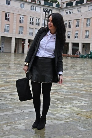Sheinside skirt - Spartoo boots