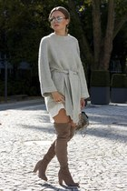 silver dior so real dior sunglasses - light brown overknee boots asos boots