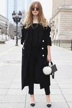 black long vest Topshop vest - black round metal ray-ban sunglasses