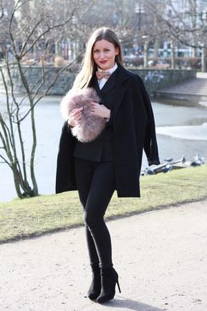 asos tie - Zara shoes - black Zara jeans - black Zara blazer - asos bag