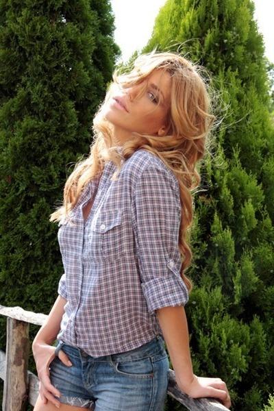 jeans Zara shorts - Zara blouse