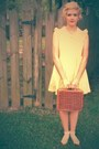 Yellow-lalamagic-dress-picnic-vintage-bag-rose-urban-outfitters-necklace