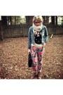 Floral-print-target-jeans-denim-forever-21-jacket-bunny-forever-21-sweater