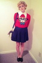cat modcloth sweater - black  white Urban Outfitters bag