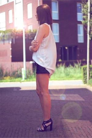 Zara heels - acne shirt
