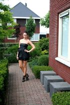 black Vila dress - black asos shoes