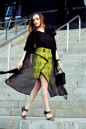 chartreuse Front Row Shop skirt