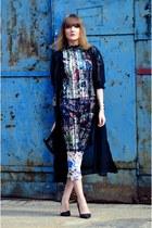 blue Choies blouse - blue Choies pants