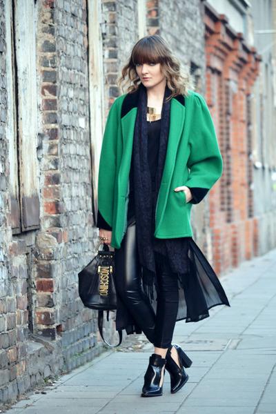 black Zara shoes - black Moschino bag