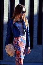 blue Bershka jacket