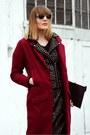 Brick-red-oasapcom-coat-black-dior-sunglasses