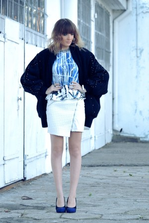white Mohito skirt - blue Zara blouse