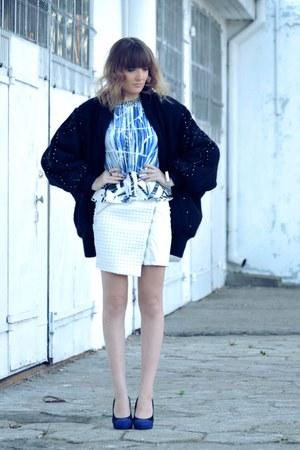white Mohito skirt - blue Zara blouse