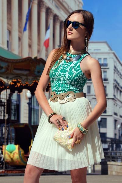 turquoise blue H&M dress