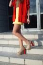 Yellow-zara-skirt