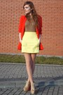 Yellow-zara-skirt