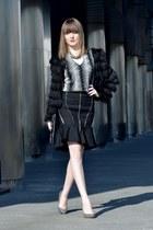 black choiescom jacket - black Zara skirt