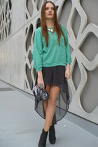 gray Zara skirt