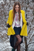 yellow River Island coat - forest green DIY skirt