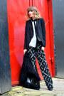 Black-front-row-shop-coat-black-h-m-pants