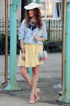 sky blue Zara blouse