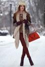 Brown-bershka-coat-carrot-orange-zara-bag