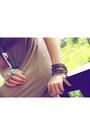 Bronze-chain-bracelet-lotus-mendes-bracelet-camel-dress-ebay-dress