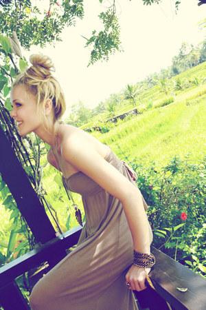 bronze chain bracelet Lotus Mendes bracelet - camel dress Ebay dress