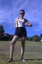 vintage accessories - Mr Price shorts - Woolworths shoes - top