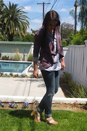 lamade sweater - H&M shirt - Express jeans - Gap shoes