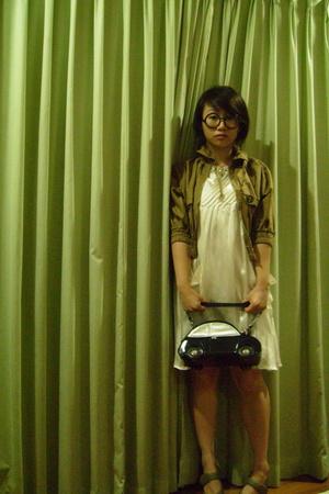 dress - jacket - purse