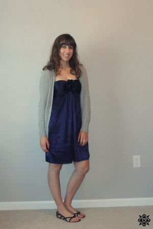 purple Charlotte Russe dress - gray Kohls cardigan - black Target shoes