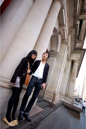 Oneteaspoon jacket - maneboutique top - Coloureighteen scarf - Sportsgirl purse