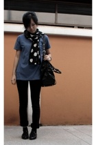 Another Place scarf - Dotti jeans - Shuberry shoes