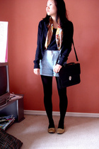 Quick Brown Fox top - g2000 sweater - vintage scarf - vintage purse - shoes - Mi