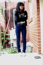 Cheap Monday jeans - g2000 sweater - Jatujak market top - Louis Vuitton belt - s