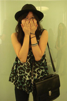 Zac hat - Siam Square top - Cheap Monday jeans - vintage purse