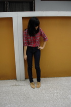 Burberry shirt - Cheap Monday jeans - Windsor Smith shoes