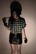 Cheap Monday shirt - bardot skirt - gloves - Zac hat - socks