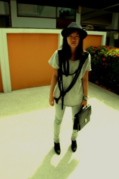 Zac hat - I heart no name shirt - Nudie Jeans jeans - vintage purse - Zara shoes