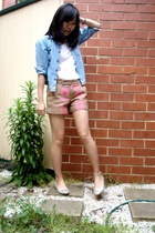 agent ninetynine top - maneboutique shorts - Guess Jeans jacket - shoes