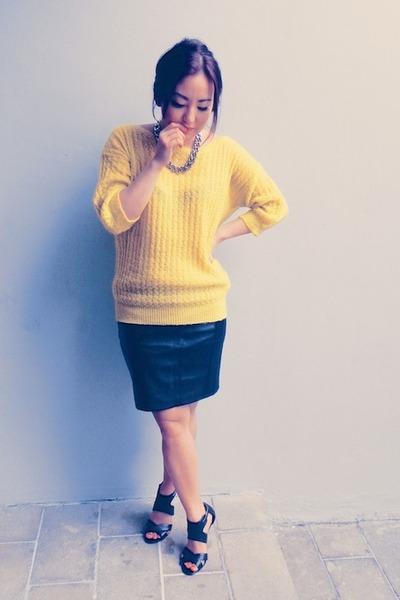 United Colours of Benetton jumper - Zara skirt - Zara necklace