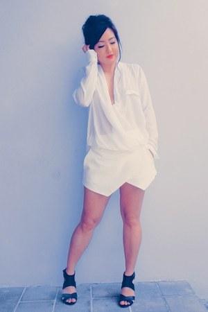 Zara shirt - Zara shorts - River Island heels