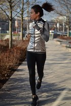 dri-fit knit nike sweater - nike leggings - nike vest