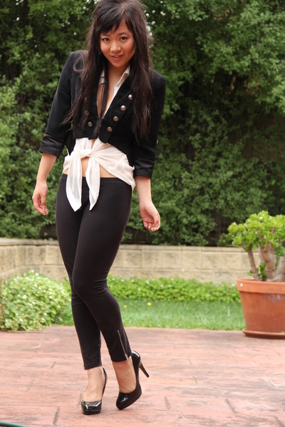 black Market jacket - white supre blouse