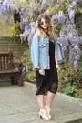 Black-dorothy-perkins-dress-turquoise-blue-vintage-jacket