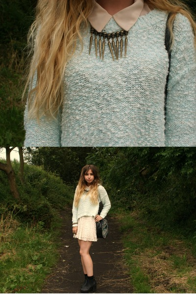 Internacionale jumper - Ebay skirt - romwe necklace