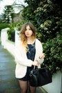 H-m-boots-black-warehouse-bag-cream-h-m-cardigan-navy-river-island-romper