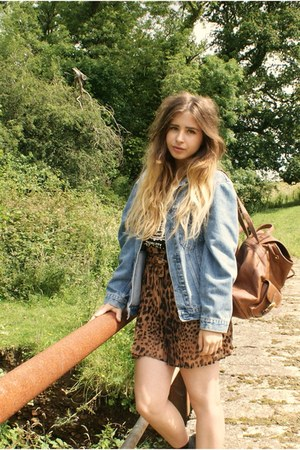 vintage jacket - Primark bag - Ebay skirt